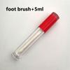 Red+foot brush