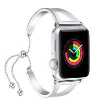 Женский ремешок для Apple watch 38 мм/42 мм iWatch ремешок 40 мм/44 мм из нержавеющей стали ремешок для часов Apple watch series 5 4 3 2 1 браслет(China)