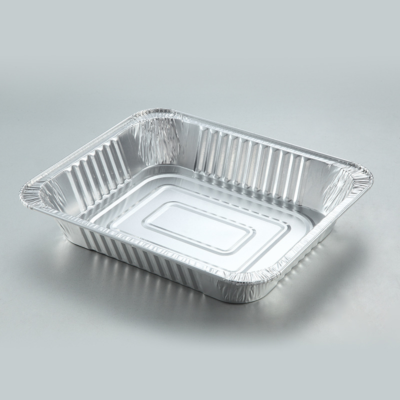 disposable 7 inch round take out aluminum foil plates