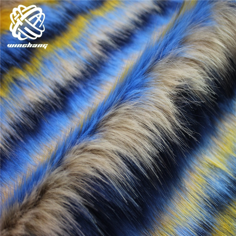 Оптовая продажа с фабрики, Четырехцветная плюшевая модная супермягкая синтетическая меховая ткань из искусственного лисьего меха разных цветов