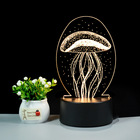 Hot Sale 3D Illusion LED night light Warm Light Round Light Base