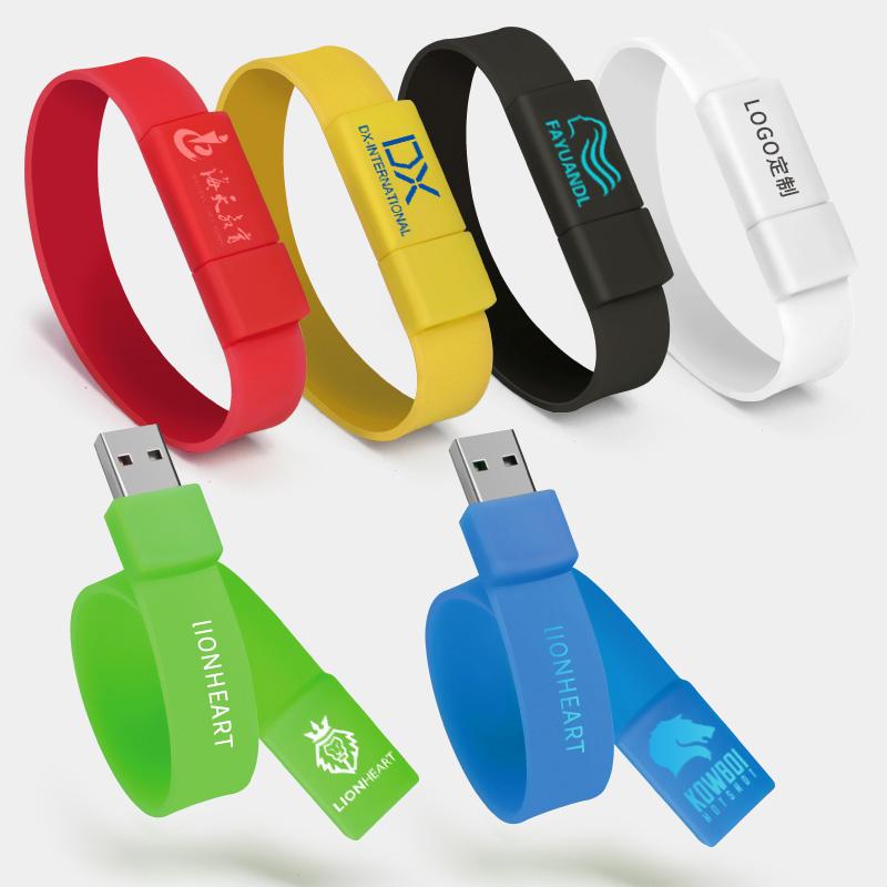 Bulk Cheap Silicon USB Flash Drives as a gift U disk Bracelet/Wristband USB 2.0 Silicone Portable - USBSKY | USBSKY.NET