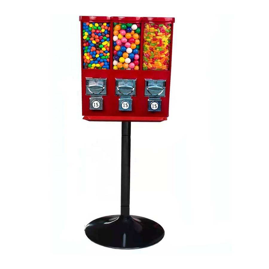 Вендинговые машины с тройной головкой для продажи конфет, вендинговый автомат с тройной головкой для продажи