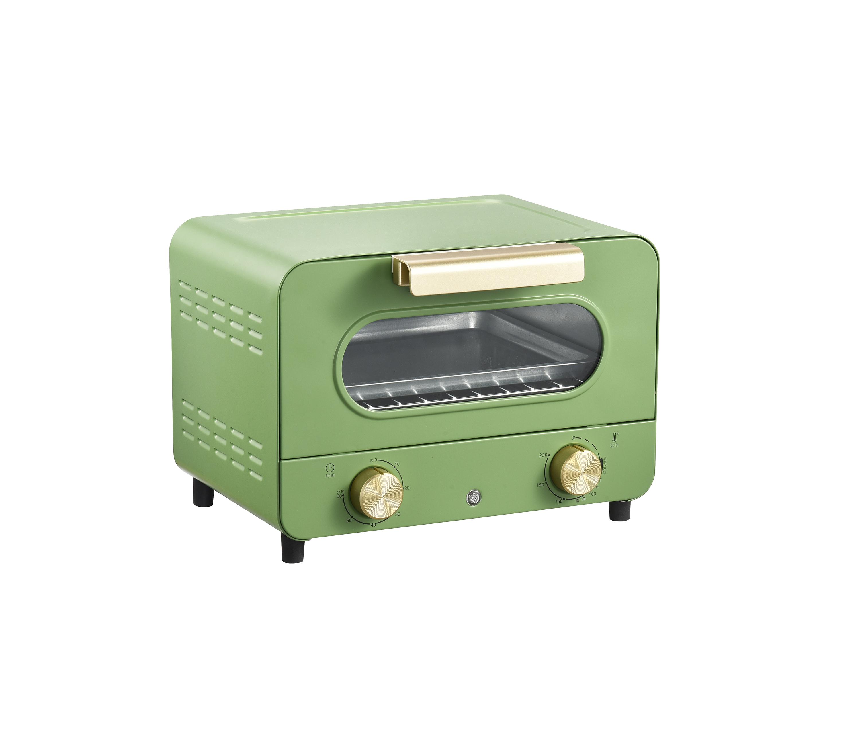 Бытовая электрическая мини-Духовка 12 л со стильным внешним покрытием для яичных тартов, пиццы, хлеба, тостов