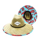 Wholesale Hat Men Straw Hat JAKIJAYI Amazon Hot Selling Wholesale Custom Logo Australia Straw Hat Beach Lifeguard Men America Natural Grass Straw Hat
