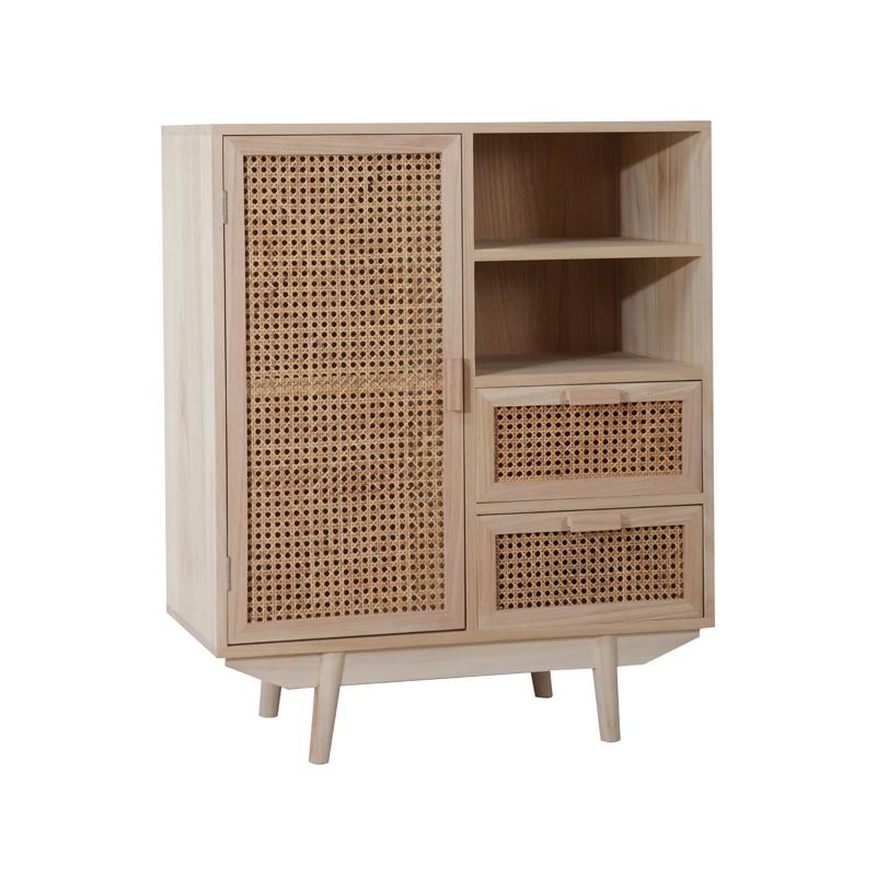 Высококачественный шкаф из натурального ротанга в скандинавском стиле, шкаф для хранения из массива дерева