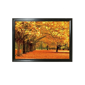 Beautiful scenery theme picture landscape 3D lenticular poster for wall hanging