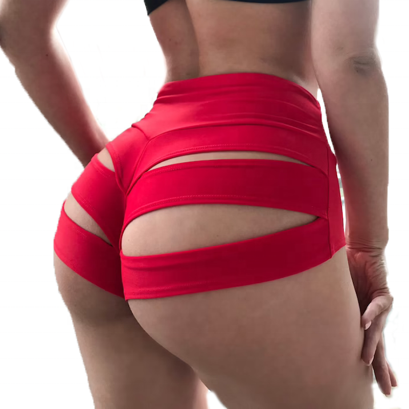 Ailangke Wholesale Custom Plus Size Sexy Strappy Butt Lifting Pole Shorts