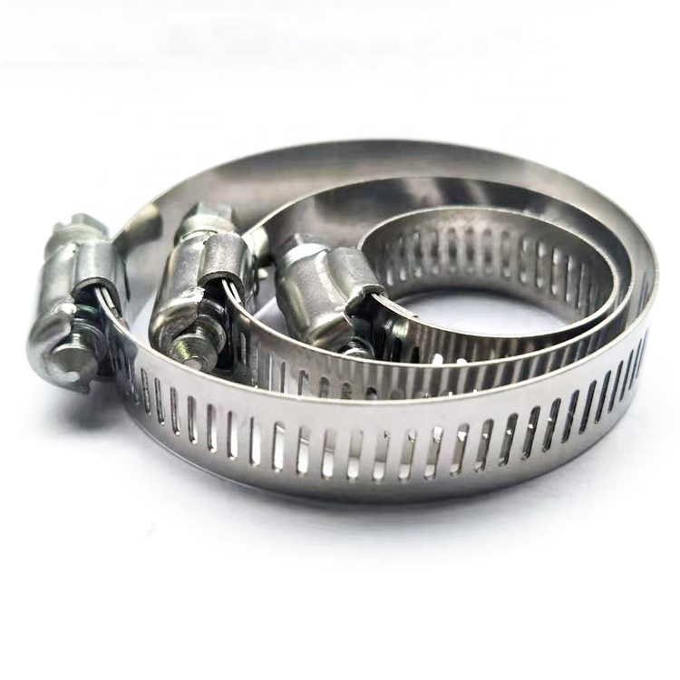 stainless steel American type perforated A-type worm drive tube hose clamps