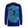 lion print long t