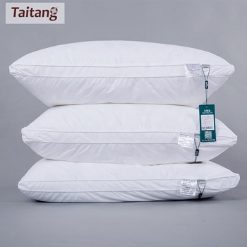 Taitang Soft Cotton Fabric Pillow 3/ 4/ 5 Star Hotel Polyester Filling Pillow