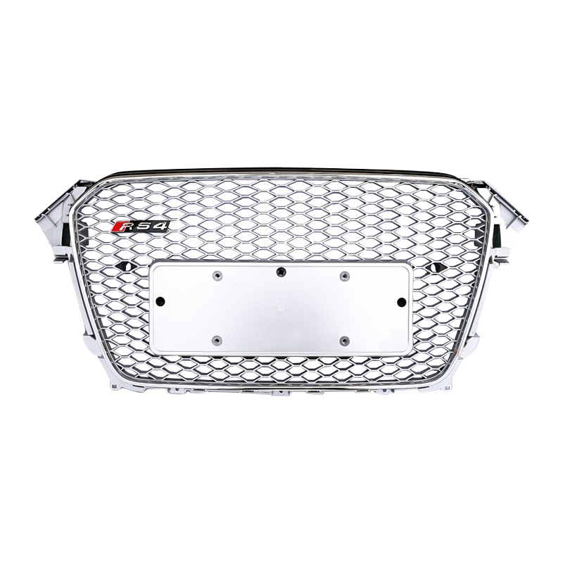 ABS black car grill for Audi A4 B85 high quality front bumper honeycomb mesh facelift RS4 grill 2013 2015