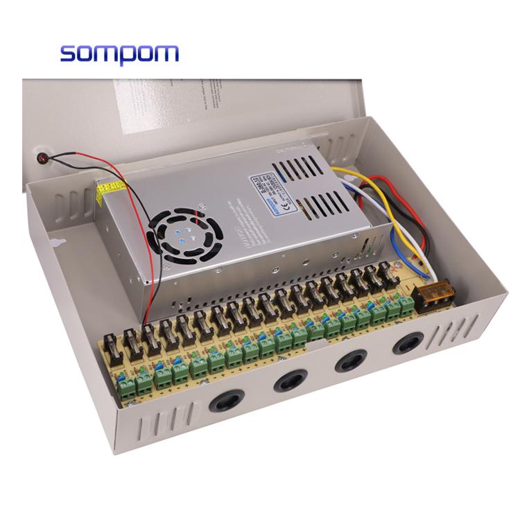 18-канальный выходной порт 12В DC CCTV PTC предохранитель распределенный блок питания для камер безопасности