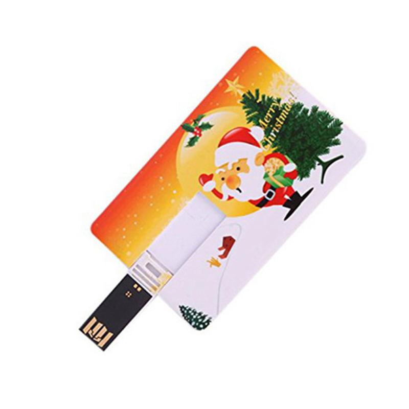 Custom Christmas Santa Claus Credit Card Usb Flash Drive Bulk Cheap Thumb Drive 2gb 4gb 8gb 16gb 32gb Usb Disk Memory Stick - USBSKY | USBSKY.NET