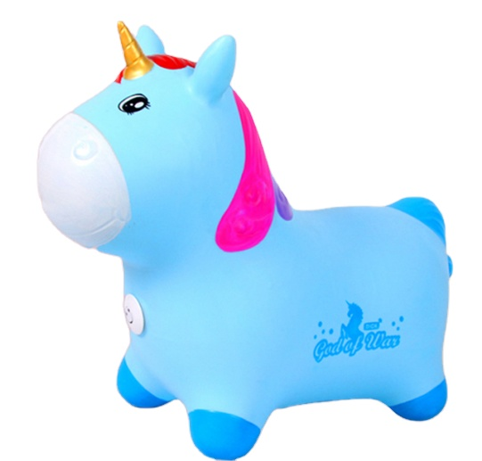 Hot sale Bouncy Hopper Inflatable Animal Toys Jumping Unicorn for Kids Toddlers