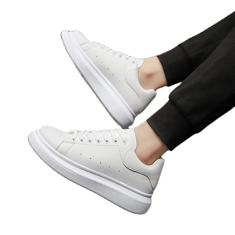 2020 New Arrival Comfortable Fitting PU Women Sneaker White Women's Casual Shoes