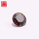 Loose Wu Zhou Sale 1.5mm Loose Brown Cz Stone Synthetic Cubic Coffee Gemstone