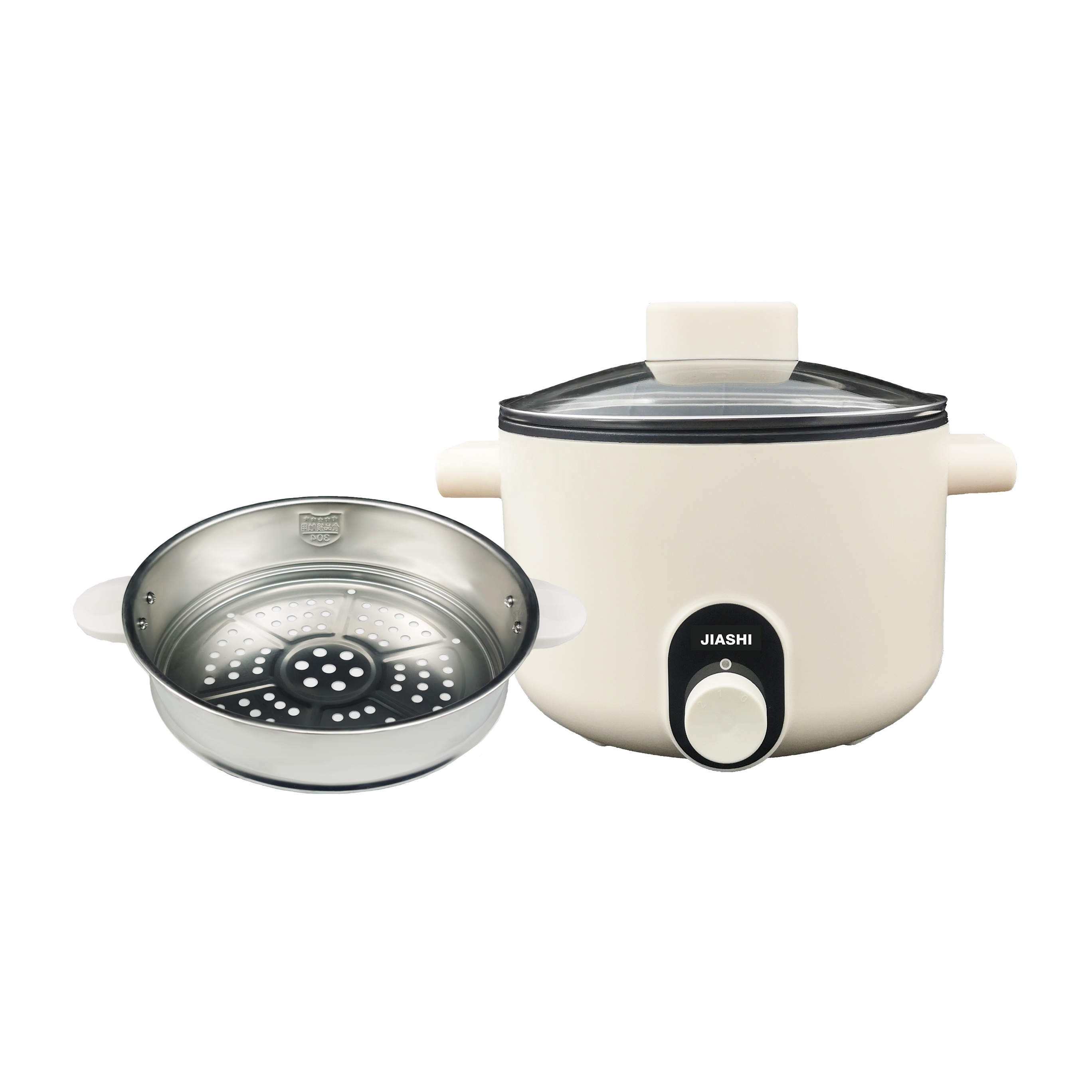 High Quality rotary knob control plastic housing non stick pot electric multi stewing cooking pot