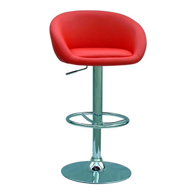 Регулируемый высокий барный стул из ПУ кожи
