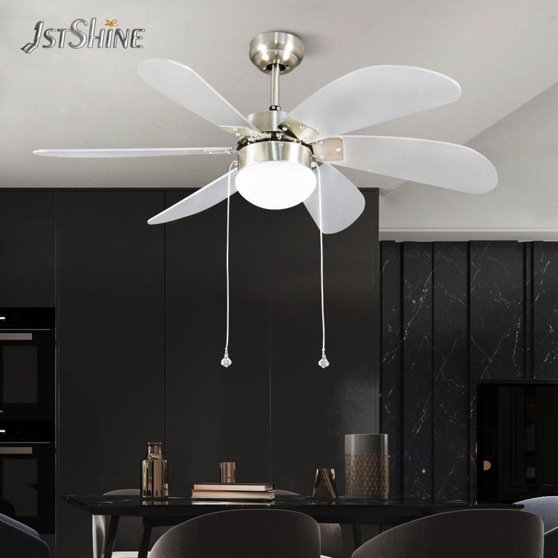 1stshine мебель для гостиной amazon, Лидер продаж, 6 лопастей, потолочный вентилятор, Тяговая цепь