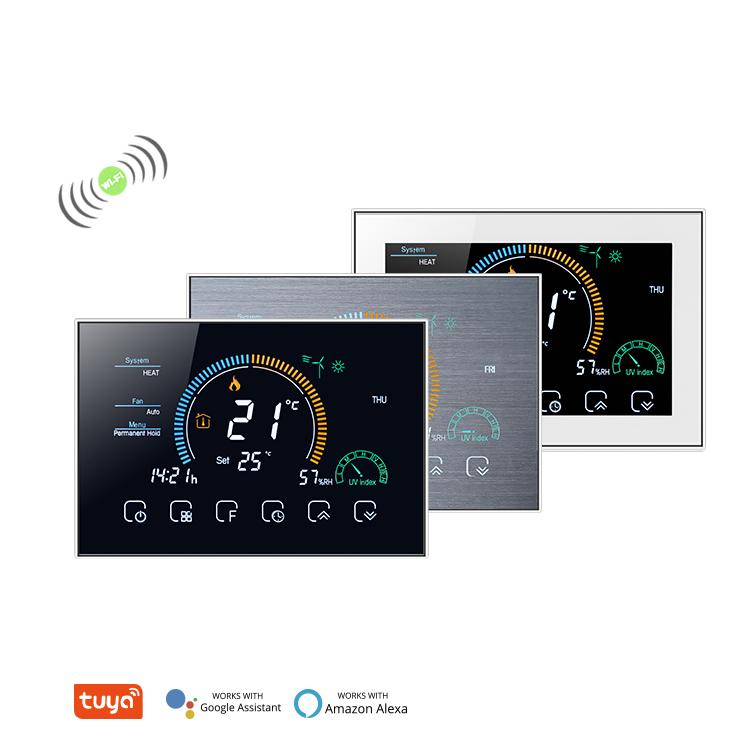 Центральный термостат для кондиционирования воздуха 0-10 В, внутренний цифровой программируемый контроллер, вентилятор-катушка, Интеллектуальный термостат