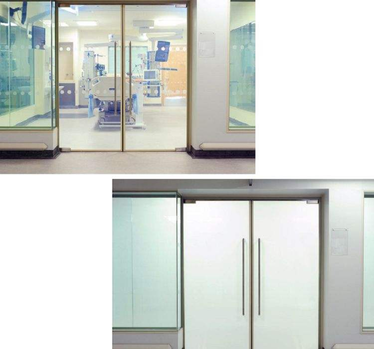 Intelligent electronic control color changing magic switchable smart glass film for building