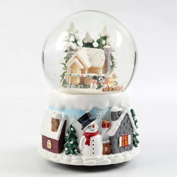 Holiday Christmas Snow Globe Personalized Glass Snow Globe LED Custom Made Snow Globes