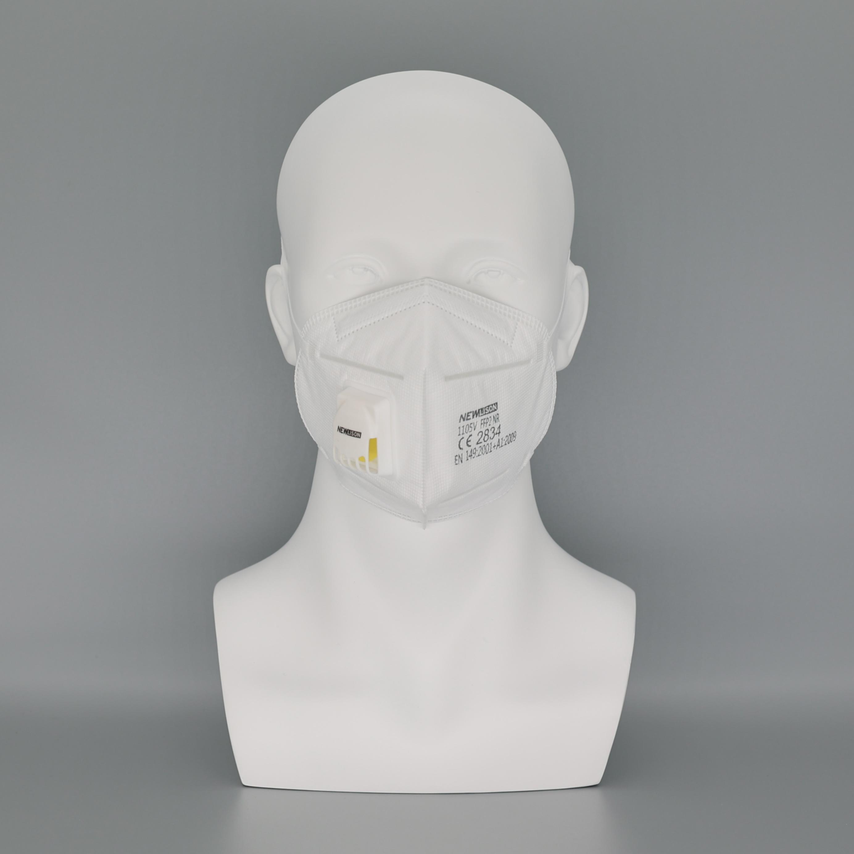 1105V FFP2 NR CE Certificated Newlison Valve PPE White List Disposable Face Mask Mascarilla Reusables Facemask - KingCare | KingCare.net
