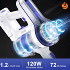 Vacuum Battery Battery Cordless Vacuum APOSEN Cordless Vacuum Cleaner Upgraded Powerful Suction 4 In 1 Stick Vacuum Cleaner 35min-Running Detachable Battery 1.2L Lar