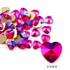14# 6mm Heart Red AB