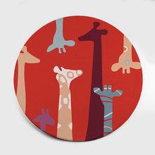 Cartoon Animals Bear Cat Cloud Giraffes коврики для детей Детская гостиная круглые детские игровые ковры Современная Скандинавская детская комната(Китай)