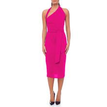 Женское вечернее платье ADYCE, розовое Клубное облегающее платье миди на одно плечо с лямкой вокруг шеи, лето 2020(Китай)