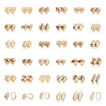 Fashion Accessories Zircon Earrings, Ladies Ear Ring Cute Trending Gold Earring Jewelry, earrings for women