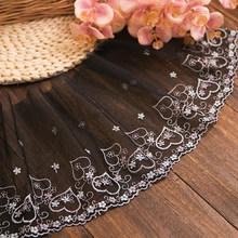 Fadesen 1 ярд кружевная ткань вышитый желтый цветок шитье DIY отделка Тюль аппликация платье одежда домашний декор материал аксессуары(Китай)
