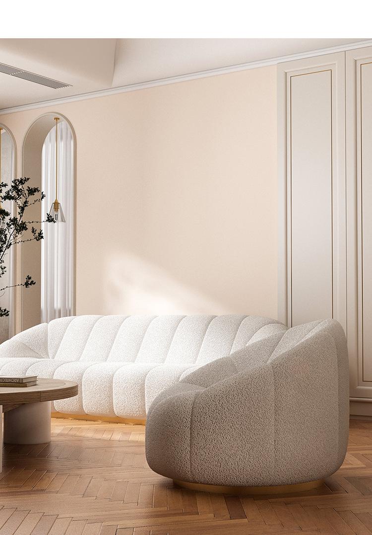Nordic Luxury Fabric Sofa Living Room Bedroom Leisure Sofa Combination Lazy Small Sofa
