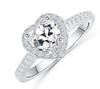 15;Platinum;Heart Diamond Ring