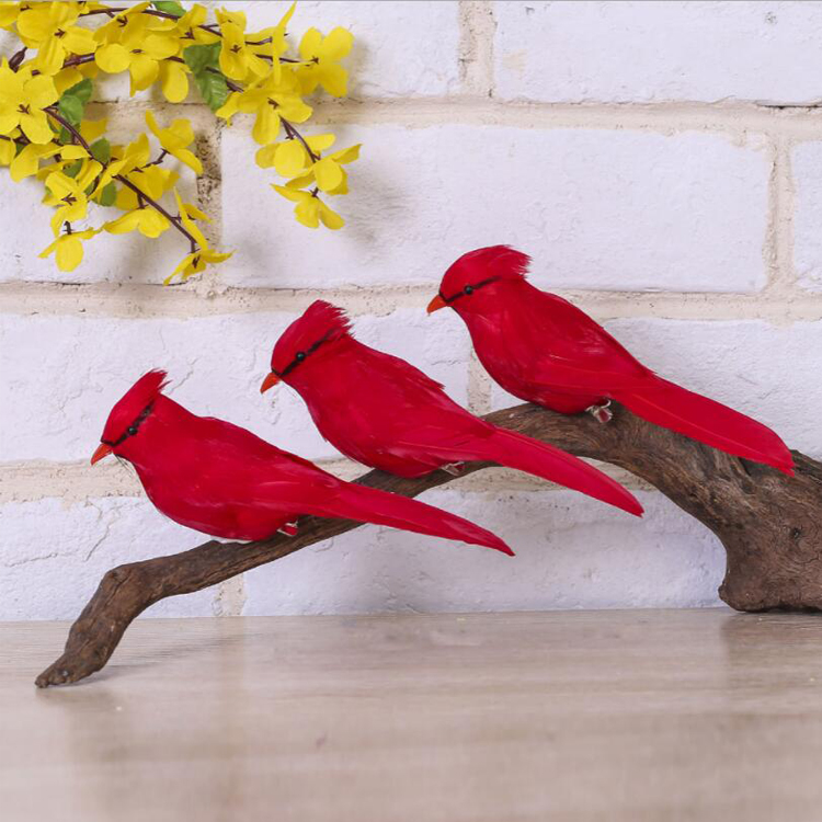 Artificial Birds Clip On Christmas Tree Ornament Decor Feathers Centerpieces for Crafts Decorations Home Garden Wedding Party