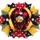 NO28-NO54 6'' big inspired hair bows character hair bows 4th of july princess sequin big layered hair clips