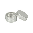 5ml Aluminum Round Silver Flat Metal Lip Balm Tins Screw Cans