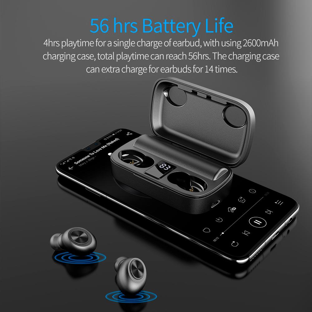 Высококачественные Hi-Fi стерео музыкальные наушники TWS Беспроводные наушники с зарядным футляром