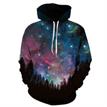 2019 Hot Fashion Unisex 3D Sweatshirts Print Spilled Milk Space Galaxy Hooded Hoodies Thin Unisex Pullovers Tops