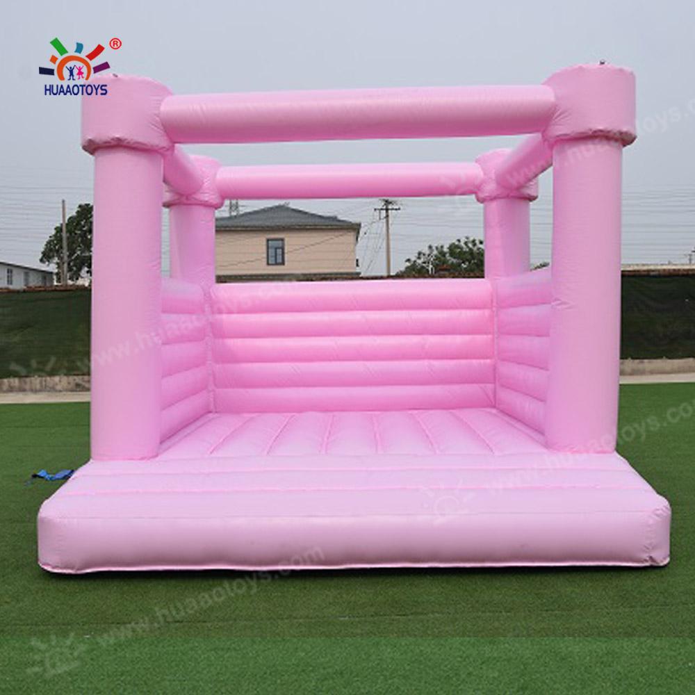 Коммерческий розовый синий прыгающий Домик из ПВХ, белый надувной Свадебный прыгающий замок для взрослых и детей