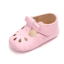 Детские кожаные туфли Smile Baby для девочек, с мягкой подошвой, Мэри Джейн, Т-бар, обувь для малышей