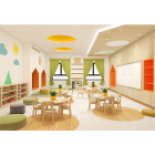 Guangzhou Cowboy kindergarten equipment and furniture supplies kids table and chairs for sale