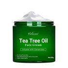 Tea Tree Oil OEM Cosmetic Factory Wholesale New Design Private Label Organic Beauty Skin Care Whitening Moisturizing Tea Tree Oil Face Cream