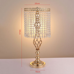 Acrylic Imitation Crystal Gold/Silver Flower Vase for Wedding