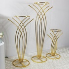Factory Wholesale Wedding Tall Metal Table Centerpiece Stands Flower Vase Stand Gold Column Decoration