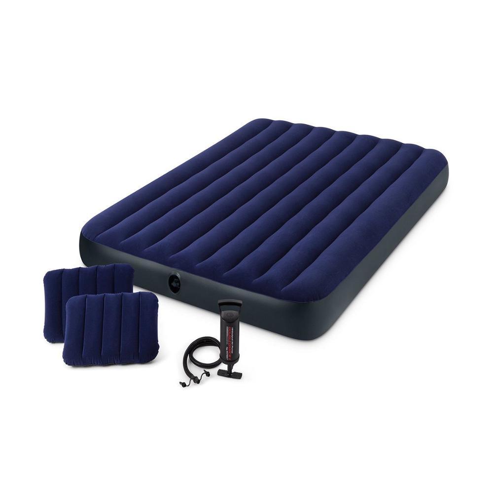 INTEX 64756 64757 64758 64759 64755 64765 Stripe Flocking Airbed Inflating Camping Mat Inflatable Mattress