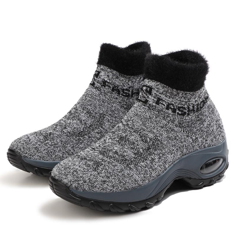Sepatu Wanita Zapatillas De deportiva Mujer Air Cushion Sole OEM Platform Slip On