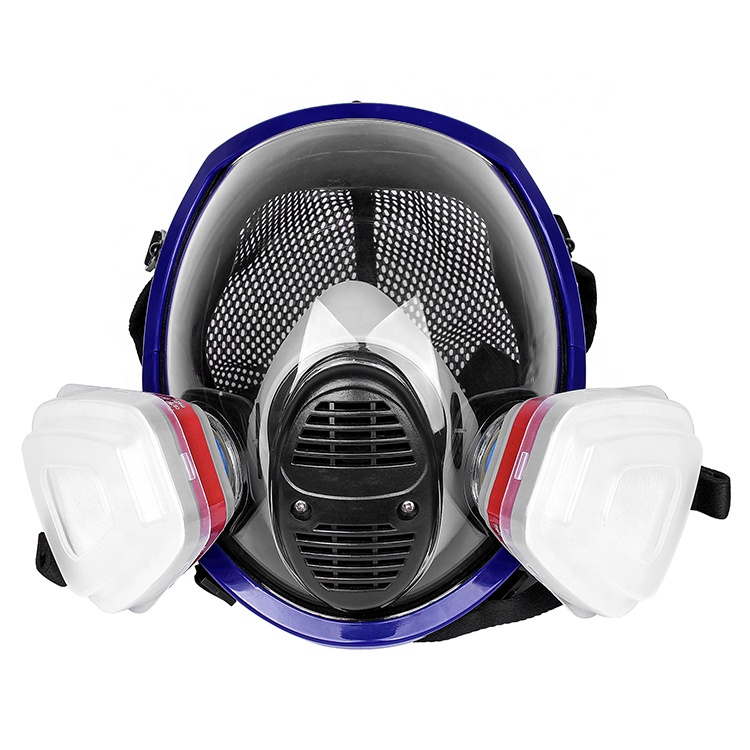 personal protection activated carbon gas mask with double cartridge - KingCare | KingCare.net